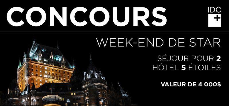 Concours Gagnez un séjour pour deux au fabuleux Fairmont Château Frontenac!