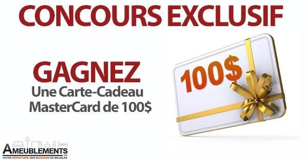 Concours Gagnez une Carte-Cadeau MasterCard de 100$