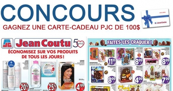 Concours Carte-Cadeau 100$ Jean-Coutu
