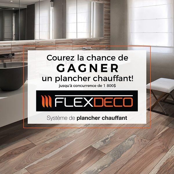 Concours Gagnez un plancher chauffant de marque Flexdeco!