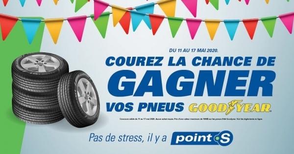 Concours Gagnez vos pneus d'été Goodyear!