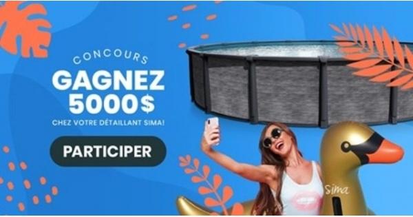 Concours GAGNEZ 5000$ CHEZ VOTRE DÉTAILLANT SIMA!