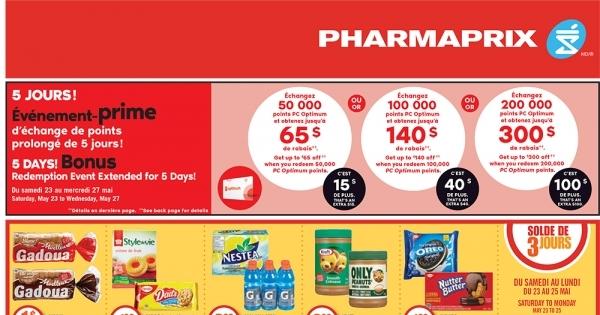 Circulaire Pharmaprix du 23 au 27 Mai 2020