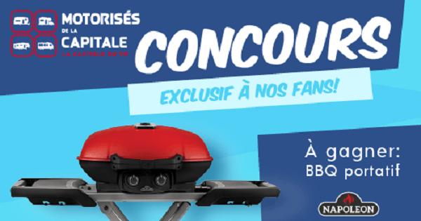 Concours Gagnez un BBQ portatif Napoleon série TRAVELQ!