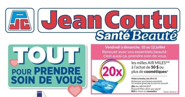 Circulaire Jean Coutu - Santé Beauté du 9 au 15 Juillet 2020