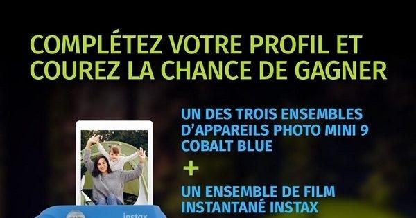 Concours Gagnez l'un des trois ensembles d'appareils photo Instax Mini 9 de Fujifilm!