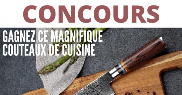 Concours Gagnez ce Magnifique Couteau de Cuisine