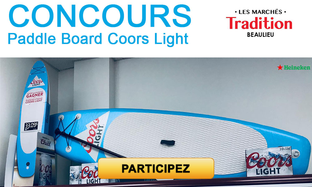 Concours Paddle Board Coors Light