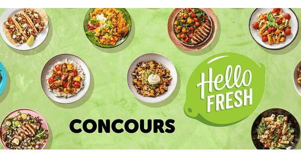 Concours Gagnez 1 mois de repas avec HelloFresh pour la rentrée!