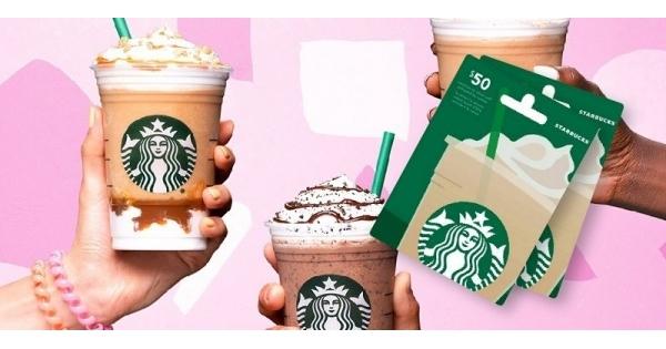 Concours Gagnez l'une des 4 cartes-cadeaux de 50$ chez Starbucks!