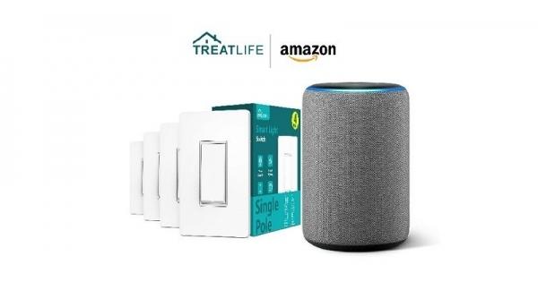 Concours Gagnez un assistant vocal Echo d'Amazon et un paquet d'interrupteurs intelligents de Treatlife!