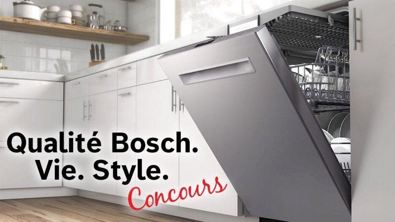 Concours GAGNEZ 1 des 3 lave-vaisselle Bosch!