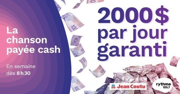 Concours La chanson payée CASH avec Jean Coutu!
