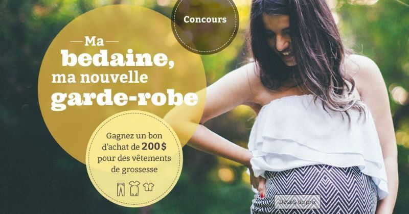 Concours Ma bedaine, ma nouvelle garde-robe!