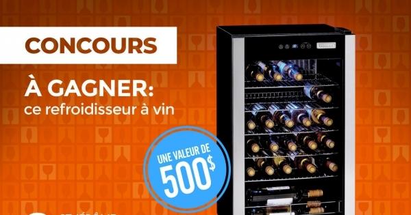 Concours Gagnez un Refroidisseur À Vin d'une valeur de 500$!
