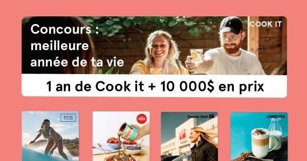 Concours Gagnez votre meilleure année à vie avec Cook it!