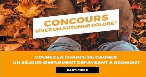 Concours Gagnez votre séjour simplement dépaysant à Bromont!