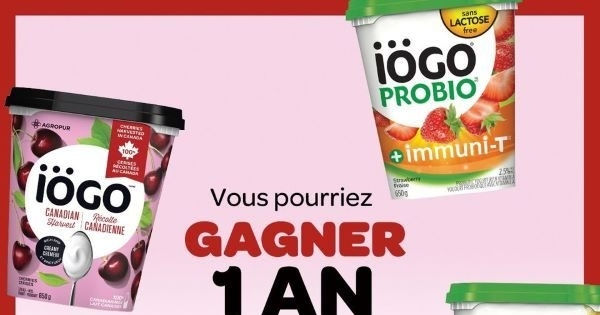 Concours Gagnez 1 an de yogourt iÖGO Récolte Canadienne!