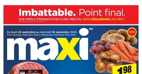 Circulaire Maxi du 24 au 30 septembre 2020
