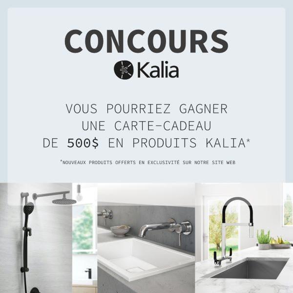Concours Gagnez une carte-cadeau de 500$ pour des produits Kalia à dépenser sur tanguay.ca!