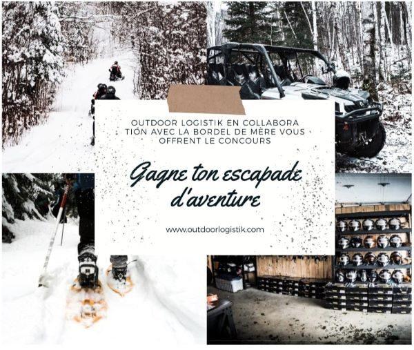 Concours Gagnez une escapade d'aventure de deux jours pour deux adultes et deux enfants, en saison hivernale!