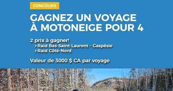 Concours Gagnez un voyage de rêve en motoneige pour 4 personnes!