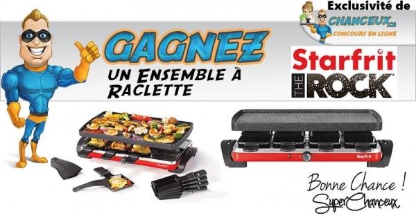 Concours Gagnez un Ensemble à Raclette Starfrit The Rock