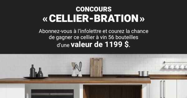 Concours Gagnez un cellier à vin 56 bouteilles d'une valeur de 1199$!