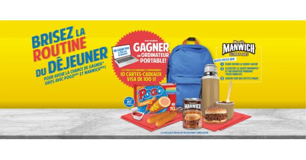 Concours Gagnez gros avec Pogo et Manwich!