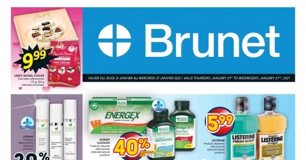 Circulaire Brunet - Pharmacie du 21 au 27 Janvier 2021