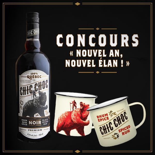 Concours Gagne deux bouteilles de Chic Choc Noir, une pour toi et une pour la personne de ton choix!