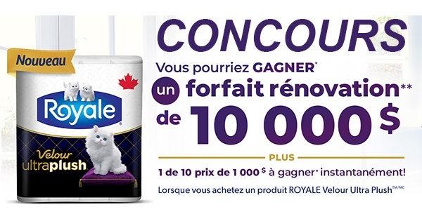 Concours Rénovation Royale 10 000$