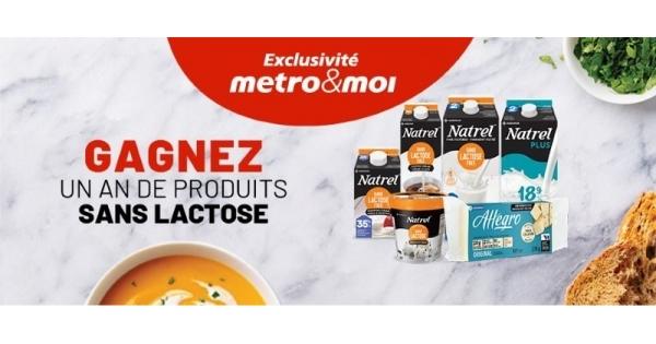 Concours Gagnez un an de produits sans lactose!