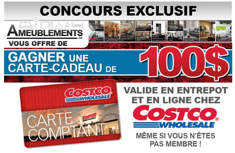Concours Gagnez une Carte-Cadeau Costco de 100$
