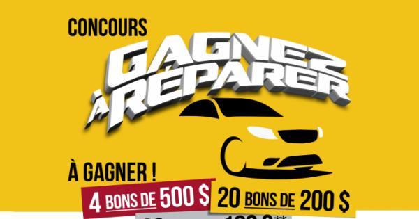 Concours Gagnez l'un des 114 bons-réparation AutoPLACE pour faire réparer ou entretenir votre véhicule!