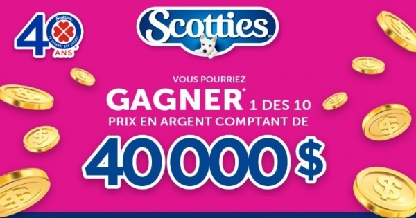 Concours Gagnez 1 des 10 prix en argent comptant de 40 000$!