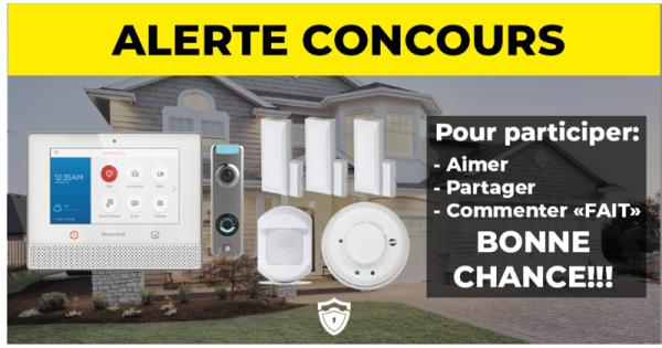 Concours Gagnez un système d'alarme Maison Intelligente avec CS Sécurité!