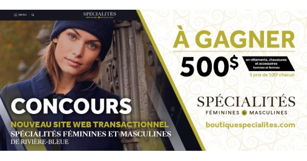Concours Gagnez 500 $ en vêtements, chaussures et accessoires pour hommes et femmes!