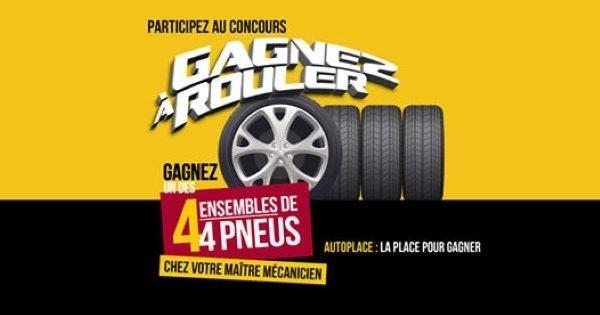Concours Gagnez l'ensemble de pneus de votre choix!
