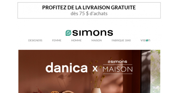 Image de la Promotion Collection exclusive Danica x Simons Maison