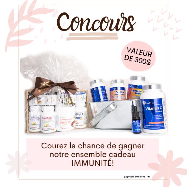 Concours Gagnez un ensemble cadeau de produits immunité!