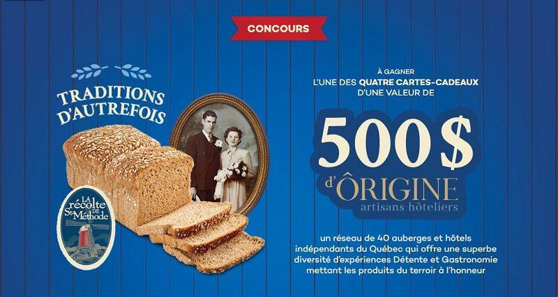 Concours Gagnez l'une des 4 cartes-cadeaux d'Ôrigine artisans hôteliers d'une valeur de 500$!