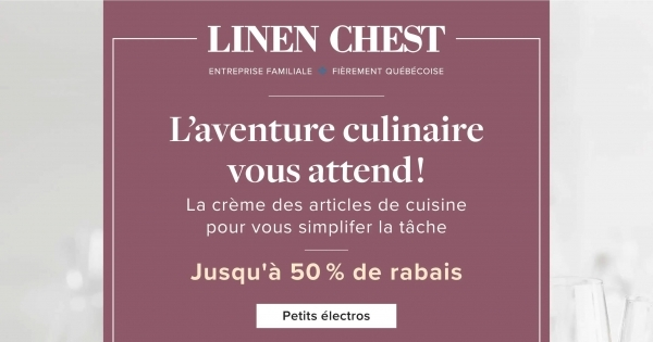 Image de la Promotion Circulaire Linen Chest du 9 au 17 Avril 2021