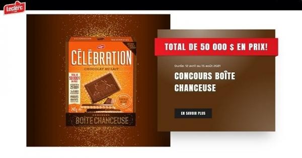 Concours Boîte chanceuse 50 000$ en prix!