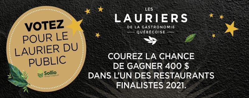 Concours Gagnez 400 $ dans le restaurant qui aura été couronné Restaurant de l'année!