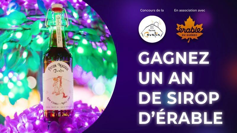 Concours Gagnez 1 an de délicieux sirop d'érable!