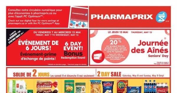 Circulaire Pharmaprix du 8 au 14 mai 2021