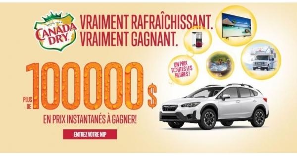 Concours Canada Dry 100 000$ en prix instantanés à gagner!