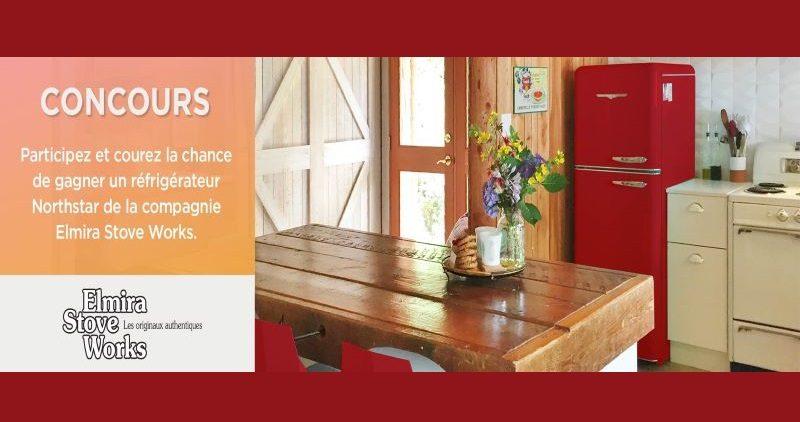 Concours Gagnez un réfrigérateur 30 pouces rouge bonbon de la compagnie Elmira Stove Works!