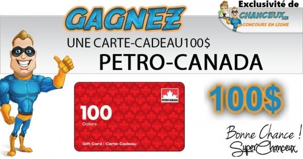 Concours CARTE-CADEAU PETRO CANADA 100$